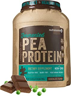 2.16 LB 100% Pea Protein Powder from North American Farms - Fermented Chocolate - Plant Protein Powder (Non-GMO, Gluten Free, Vegan Friendly)