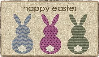 Flagship Carpets CN0630 Hoppy Easter Bunny Rug, Indoor Door Entrance Mat, Machine Washable, 0.375