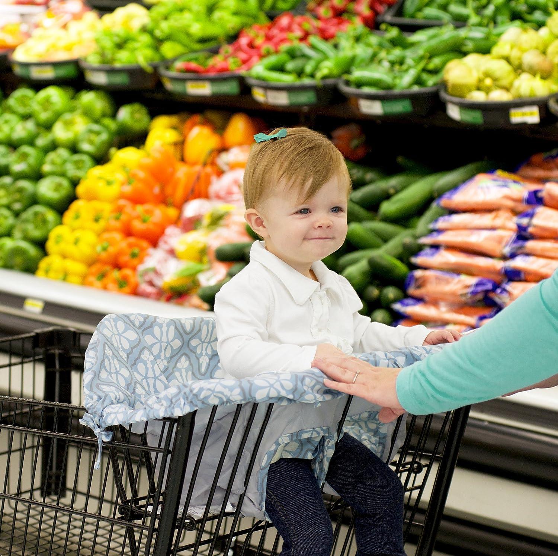 Jj Cole Shopping Cart Cover Blue Iris