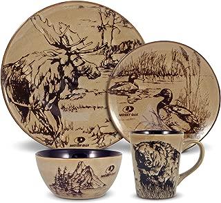 Mossy Oak 5137679 Animal Print Dinnerware Set, Assorted