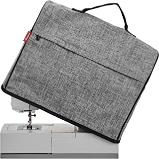 NICOGENA Sewing Machine Dust Cover with Top Handle and Pockets, Compatible with Most Standard Singer and Brother Machines,...