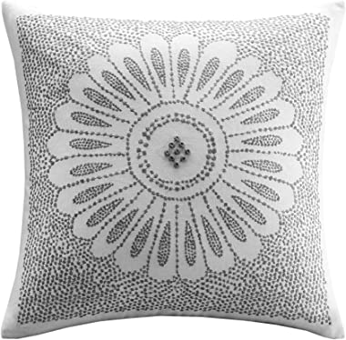 "INK+IVY Mid Century Modern Cotton Decorative Pillow Hypoallergenic Sofa Cushion Lumbar, Back Support, 20""x20"", Sofia,"