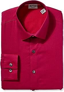 Men's Dress Shirt Slim Fit Stretch Collar Solid