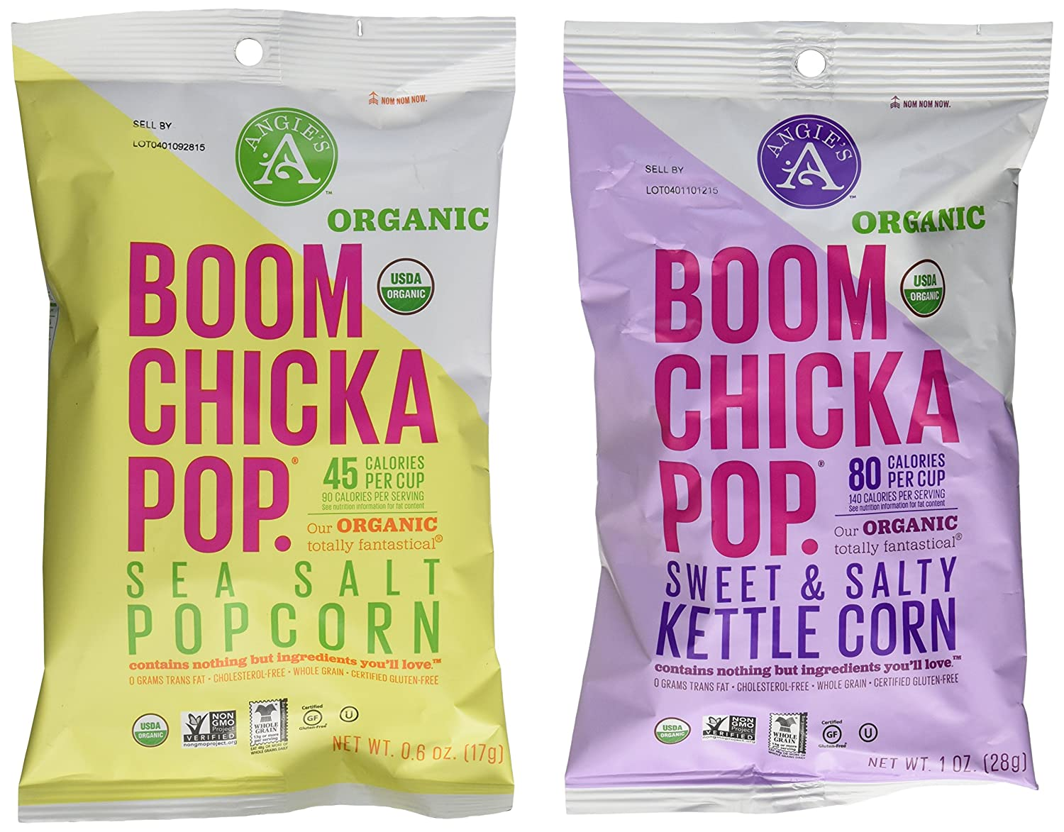 Boom Chicka Pop Discount mail order Sales for sale Organic Popcorn Packs 24 Snack -