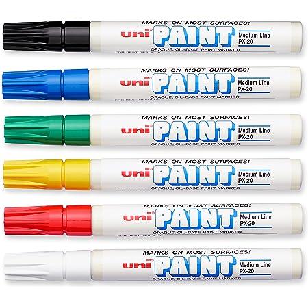 Fine Line 6-Pack Uni-Paint 63703 PX-21 Oil-Based Permanent Marker Blue