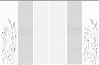 grau Höhe 260 cm halbtransparent VISION S 6er-Set Flächenvorhänge ORNAMI