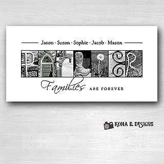 Personalized Family Gift - Creative Letter Art - Custom Alphabet photography - Photo Letter Art - Custom Name Sign - Family Sign- 10x20 Unframed