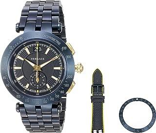 Men's 'V-Race' Swiss Quartz Stainless Steel Casual Watch, Color:Blue (Model: VAH050016)