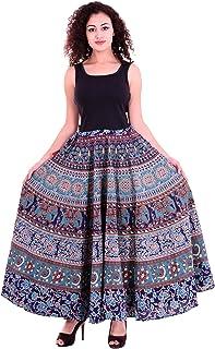 Handicraft-Palace Women'S Turquoise Skirts(Cms-15_Turquoise_Free Size)