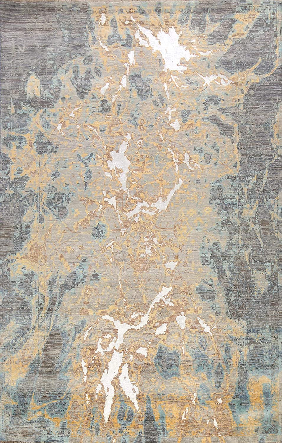100% Vegetable Dye Contemporary Many popular brands Milwaukee Mall Abstract Oriental Rug Wool Area