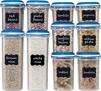 Shazo Food Storage 20-Piece Set Airtight Dry Food Container