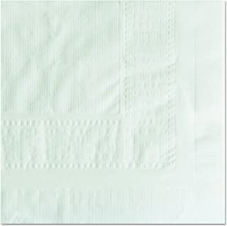 """Hoffmaster 210130 Cellutex Tablecover, Tissue/Poly Lined, 54 in x 108"""", White (Case of 25 Tablecloths)"""