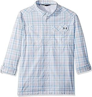 Under Armour Men's Fish Hunter Plaid Long Sleeve Shirt, White (102)/Graphite, X-Large