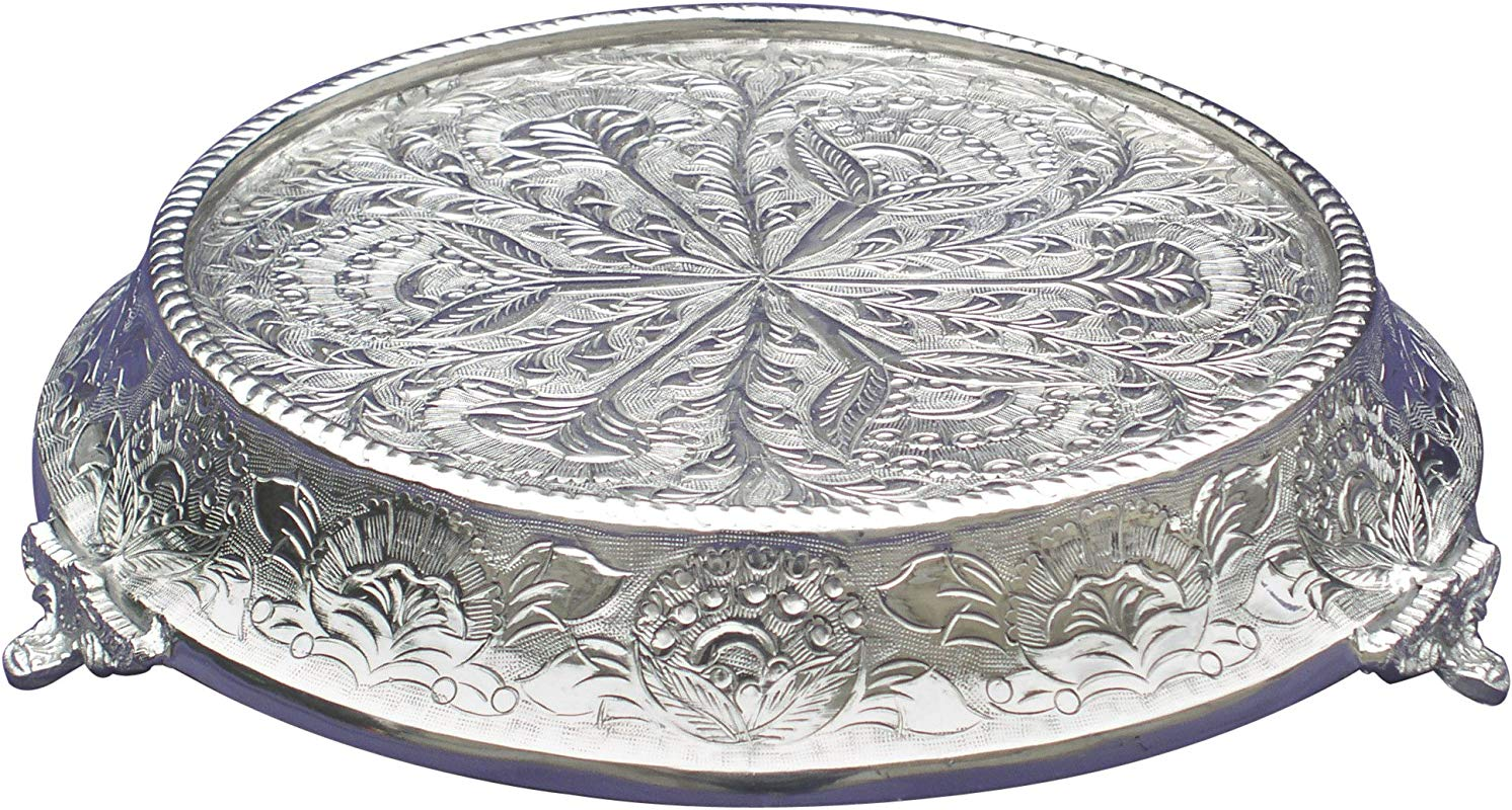 GiftBay Wedding Cake Stand Tapered Round 16 Top Diameter Strongly Built For Professional Bakers