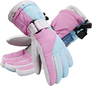 Simplicity Kid's Thinsulate Cotton Windproof & Waterproof Snow Ski Gloves