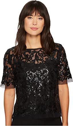 Karen Kane - Sequin Lace Mesh Top