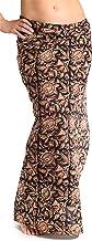 ufash Damen Sarong Lungi Pareo Rock aus Indien, traditionell handbedruckt, Unisex für Männer und Frauen. Boho Gipsy & Hipp...