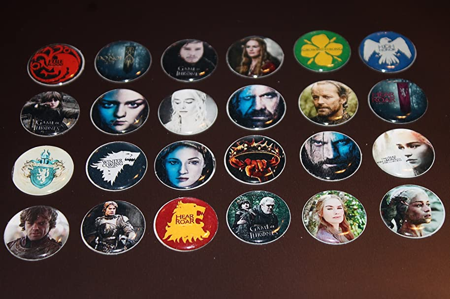 Geocache Swag Refrigerator Magnets - 24 Pcs Game Of Thrones Set 2