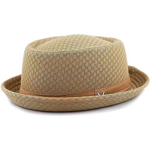 77ee5c27ebd88d THE HAT DEPOT Unisex Light Weight Classic Soft Cool Mesh Pork Pie Hat