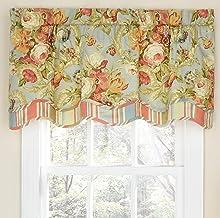 """WAVERLY الستائر للنوافذ - Spring Bling 52"""" x 18"""" ستارة قصيرة ستائر نافذة صغيرة للحمام ، غرفة المعيشة والمطابخ ، بخار"""