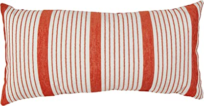 Rivet Casual Outdoor Throw Pillow - 24 x 12 Inch, Coral