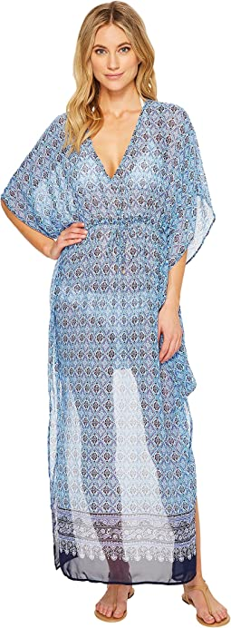 Tommy Bahama Tika Tiles Engineered Caftan Cover-Up