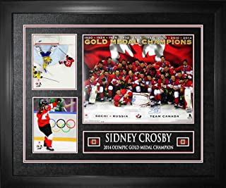 Frameworth Sidney Crosby Signed 16x20 Team Canada 2014 Gold Celebration With 2 8x10'S - Autographed NHL Photos