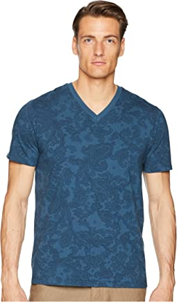 Faded Paisley V-Neck T-Shirt