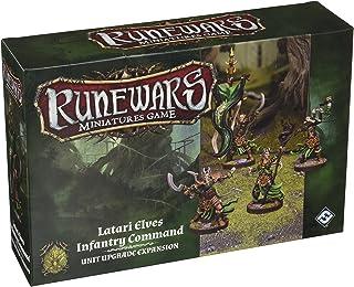 Fantasy Flight Games Runewars Latari Elves Infantry Command Unit Expansion Pack Miniatures Game Miniatures Game