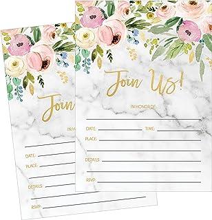 50 Fill In Invitations, Wedding Invitations, Bridal Shower Invitations, Rehearsal Dinner, Dinner Invitations, Baby Shower ...