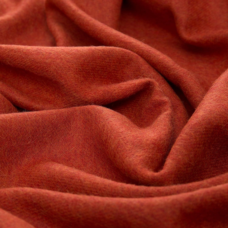 URBANARA Manta Arica 100/% lana de alpaca beb/é peruano naranja /óxido 130 x 185 cm manta de lana con flecos para sof/á//cama//silla