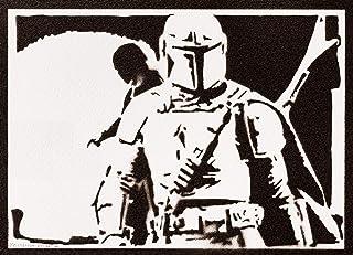 Poster The Mandalorian STAR WARS Handmade Graffiti Street Art - Artwork