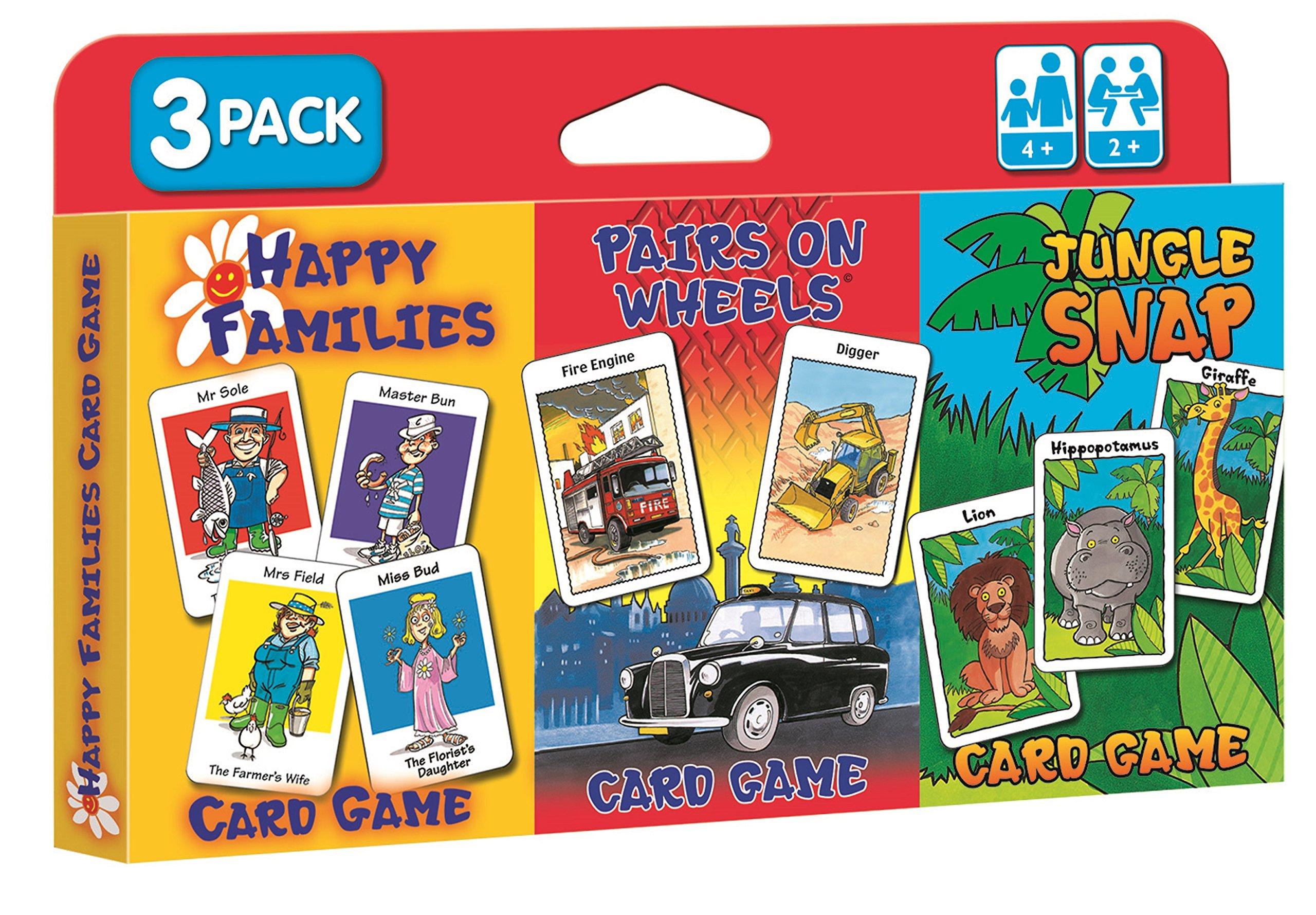 Cartamundi 107677996 Happy Families-Children/'s Card Games-Mixed Display,