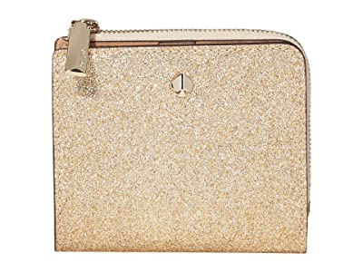 Kate Spade New York Burgess Court Small Bifold Wallet (Pale Gold) Wallet Handbags