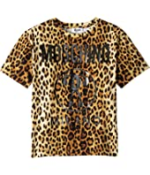 Moschino Kids - Short Sleeve Maxi T-Shirt w/ Logo (Little Kids/Big Kids)