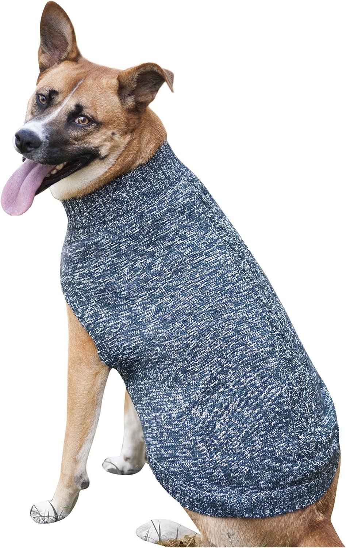 Fashion Pet Tonal Marled Dog Sweater, XSmall, bluee