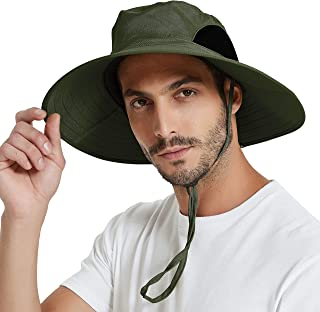 EINSKEY Sun Hat for Men/Women, Wide Brim UV Protection Bucket Hat Foldable Waterproof Outdoor Boonie Cap for Safari, Fishi...