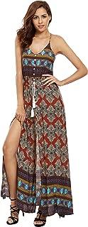 Floerns Women's Sleeveless Sundress Beach Maxi Long Dress
