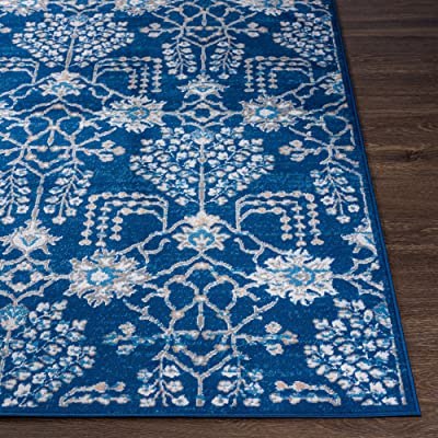 """Artistic Weavers Bohemian Floral Dale Area Rug, 6'7"""" x 9', Navy"""