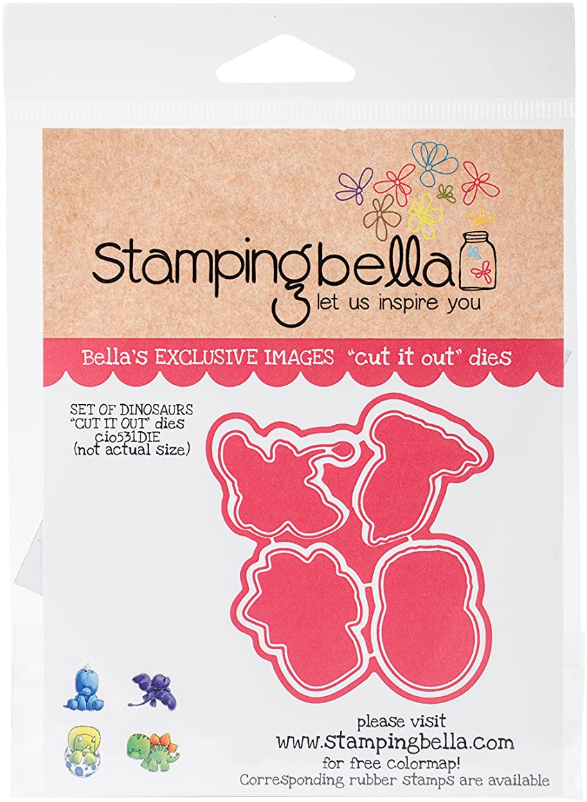 Stamping Bella CIO531DIE Cut It Out Dies-Dinosaurs