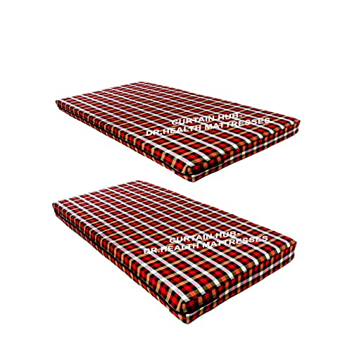 Chawla Handloom Cotton Mattress Covers with Chain, 72x36x5-inch, Multicolour(Pack Of 2)