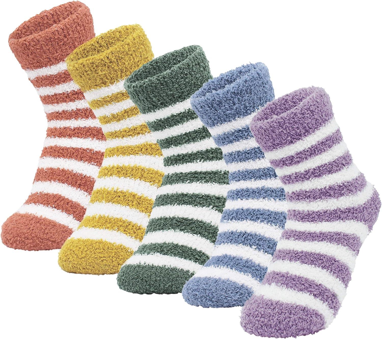 ANGUYA Women Warm Super Soft Plush Slipper Sock Winter Fluffy Microfiber Crew Socks Casual Home Sleeping Fuzzy Cozy Sock