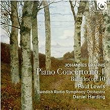 ブラームス : ピアノ協奏曲 第1番 Op.15 | 4つのバラード Op.10 Johannes Brahms : Piano Concerto no.1 | Ballades op.10 / Paul Lewis | Swedish Radio Symphony Orchestra | Daniel Harding 輸入盤 日本語帯・解説付