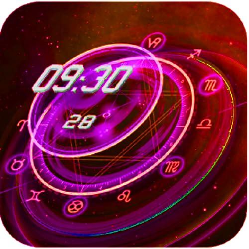 Clock - digital & analog red