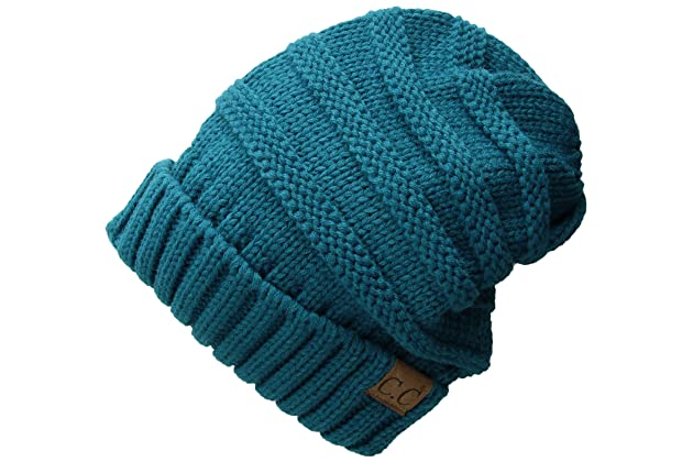 b09f393abf7 FunkyJunque Trendy Warm Oversized Chunky Soft Oversized Cable Knit Slouchy  Beanie