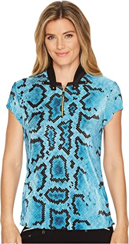 Jamie Sadock - Anaconda Print Short Sleeve Top