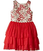 Nanette Lepore Kids - Lurex Jacquard with Tulle (Little Kids/Big Kids)