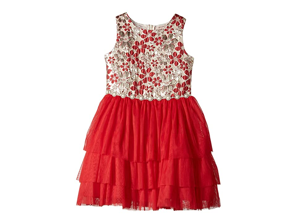 Nanette Lepore Kids Lurex Jacquard with Tulle (Little Kids/Big Kids) (Red) Girl