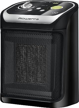 Rowenta Mini Excel Eco SO9265F0 Calefactor cerámico de rápido calentamiento con potencia regulable de 1.000 W 1.800 W, termostato, función Eco, función silence solo 49 dBA