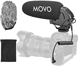 Movo VXR3031 Supercardioid On-Camera Shotgun Microphone with 2-Step High-Pass Filter, 3-Stage Audio Level Control, Headphone Monitoring Input + More for DSLR's, Mirrorless, Recorders, Camcorders